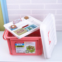 Home plastic medicine chest container first aid kit box case