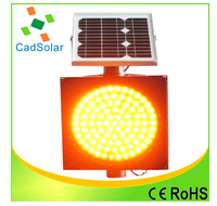 300MM Solar yellow Flashing Light