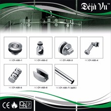 CY-A30 wood sliding door stainless steel rail track fittings hanging sliding roller