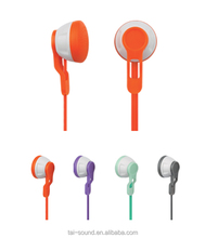 Competitive Price Funny Colorful Earbuds Earphone with Flat Cable