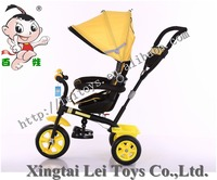 Popular children tricycle kids 3 color wheel pedal car with canopy /Baby Tricycle 4 in 1/Cheap Kid Tricycle with round control