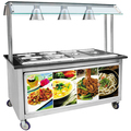 BN-B08 Cosbao Stainless Steel Food Warmer 6 Pan Bain Marie
