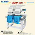 Fuwei 2 heads barudan embroidery machine prices t shirt printing machine for second hand machine
