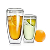 Clear Borosilicate Double Wall Glass Tea Jugs With Handle