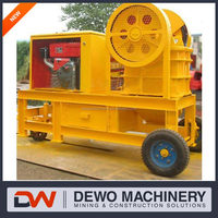Mini rock crushing machine/small stone jaw crusher for sale