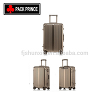 Manufacturer supply aluminium metal luggage case trolley