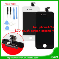 A+++ quality China wholesale lcd Mobile phone Glass screen display touch digitizer LCD assembly for appple iphone 4 4s.