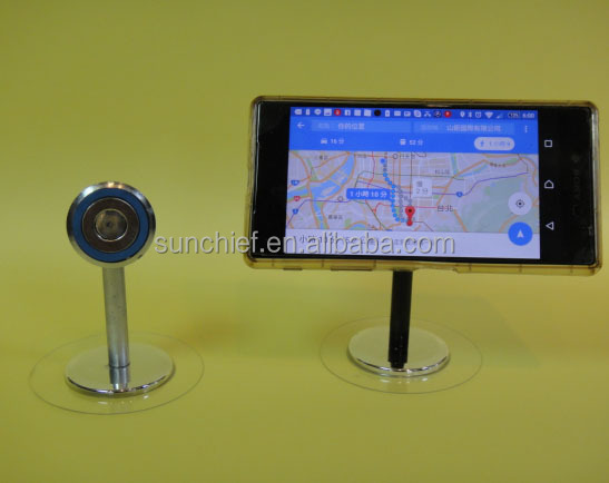 Sticky magnetic mobile phone stand