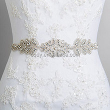 2015 Professional wedding dress sash rhinestone applique bridal belt crystal appliques trim for wedding dresses belt