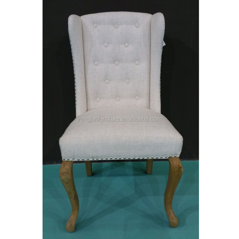 Home Decor High Quality Fabric Wing back Wood Dining Chair(YJ-8022)