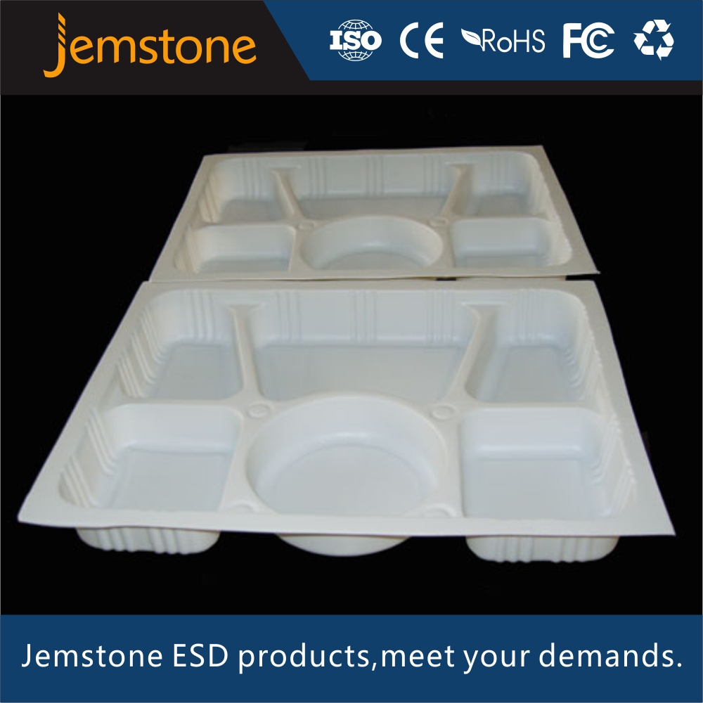 Disposable Medication Blister Tray Customized Milk White Plastic Package for medical