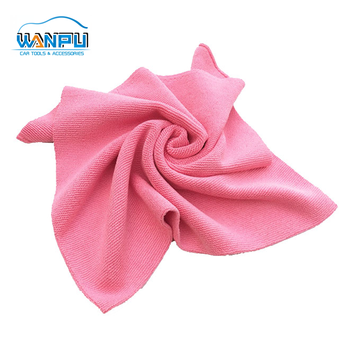 Microfiber Towel hot sale 40x40cm 300gsm without edege customized microfiber cloth red