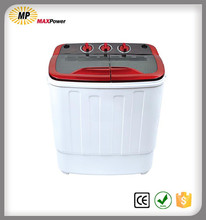 Twin tub washing machine with laundry dryer