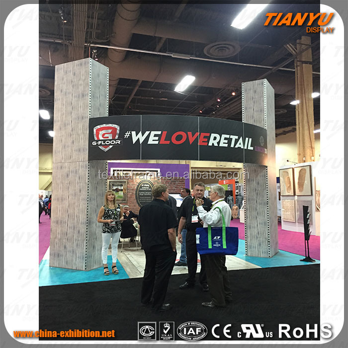 Aluminum Trade Stands LED Display Exhibition Booth Design And Construction Exhibition Stall Modular Exhibition Stands