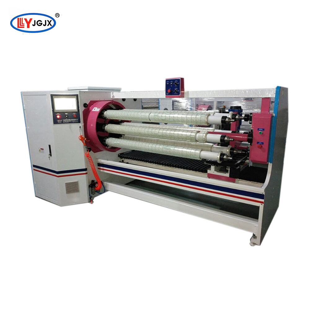 LY-706 kitchen aluminum foil making machine/packaging film cutter/bounding tape slitting machine