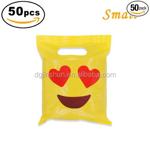 Mini Emoji Goodie Candy Bags Cute Birthday Party Favor Supplies Bags Emoji Gift Treat Bags