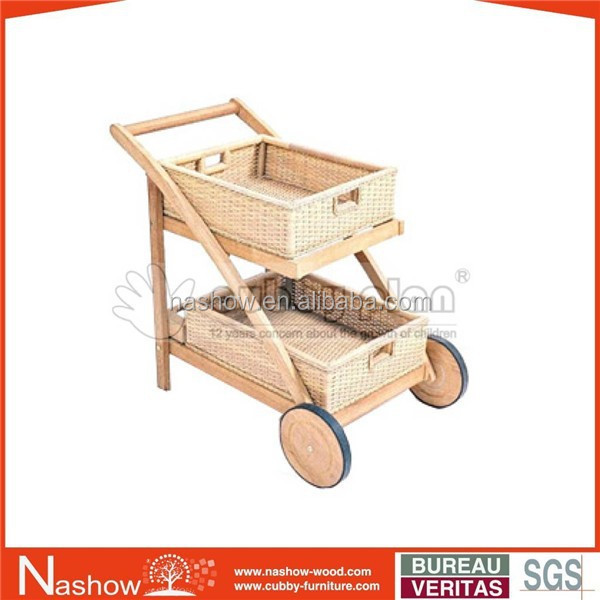 Cubby Plan TRO-016 High Quality Kids Wooden Trolley