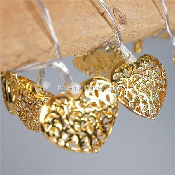 China best seller String light motif light,outdoor or indoor decoration light heart shape