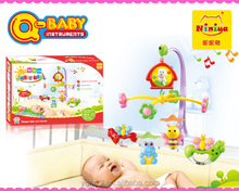 Q-BABY plastic music cheap baby bell mobile toys wholesale