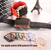 Fashion leopard pattern Ultra thin PC protective case for apple watch 38mm 42mm with retail box