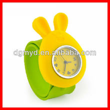 Cute children silicone rubber watch wrist for promotion