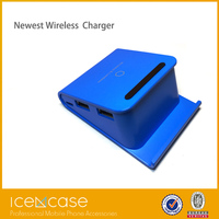 High quality wireless mobile charger mini project, blue wireless solar charger car wireless charger