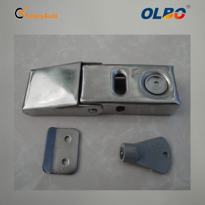 zinc alloy hasp and staple lock for motor trunck DK-606