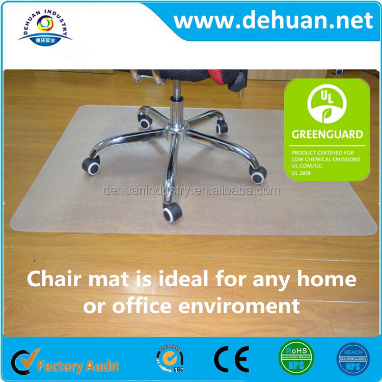 Office chair mat,Car,Floor Use and Waterproof,Anti-Slip Feature Phthalate-Free PVC 36 x 48 Chair Mat For Low Pile Carpet