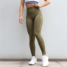 Soft Plain Colors Hallowed High Waist Seamless Womens Running Leggings