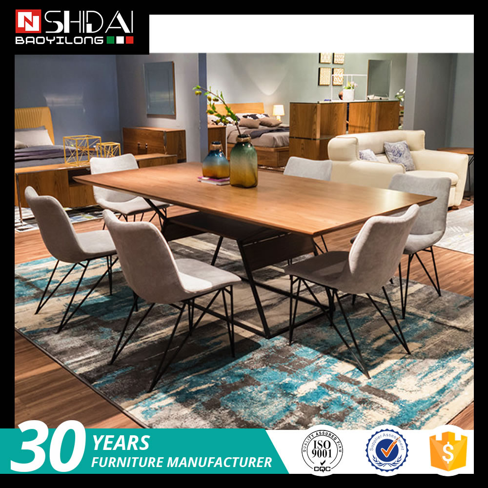 Modern dining room furniture set matel structure dining table and chair A-831 N6267