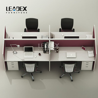 C60 Modern office desk for 4 people / 4 seat office desk