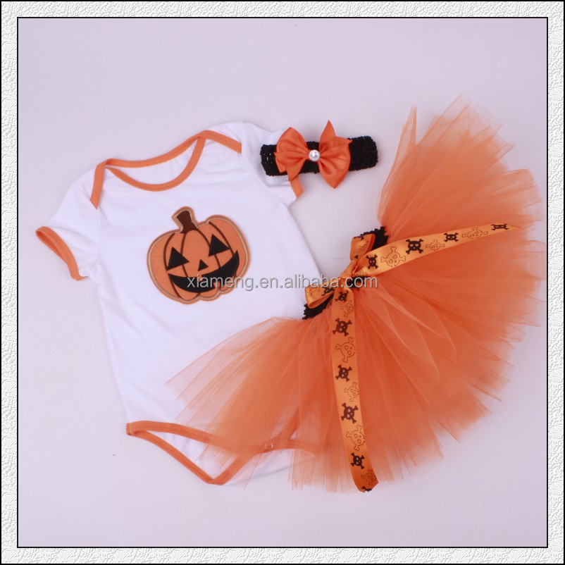 halloween pumpkins kids outfit 3pcs birthday tutu dress for 1 year old romper baby costumes girls