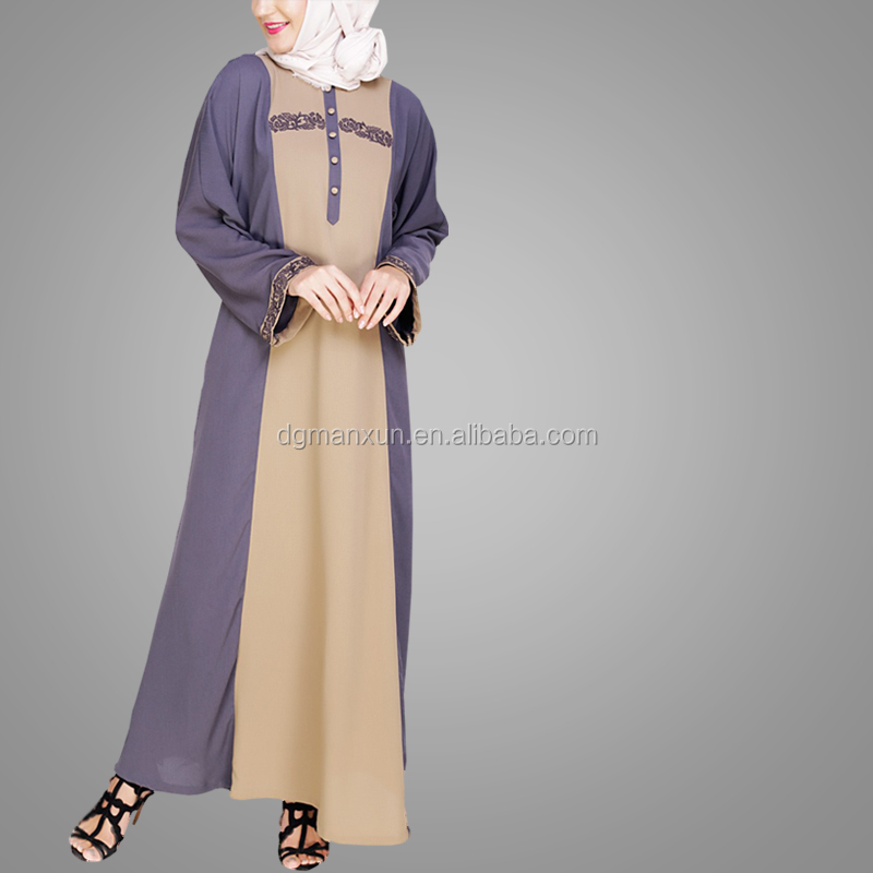 Modern Abaya Designs Dubai Pictures Embroidery Style Long Sleeve Jubah Abaya Moroccan Style Muslim Dress
