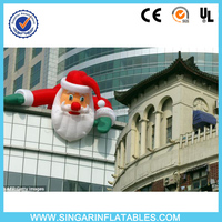 Outdoor roof christmas decoration 20ft christmas inflatable santa
