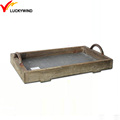 wooden storage vintage french tray for home decoration