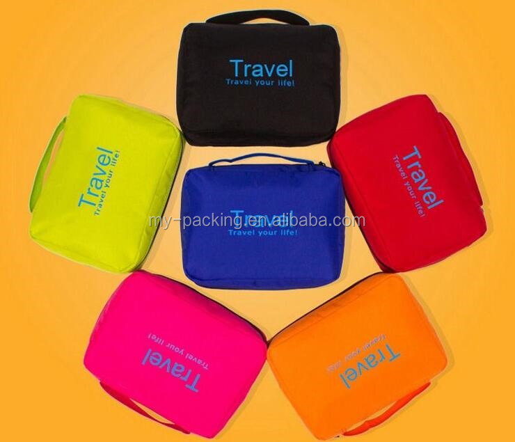 2016 free shipping portable pouch bags for travel