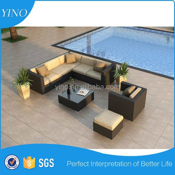 Large Outdoor Wicker Modular Lounge Sofa Couch Deck Patio Cane Furniture Setting RZ1986
