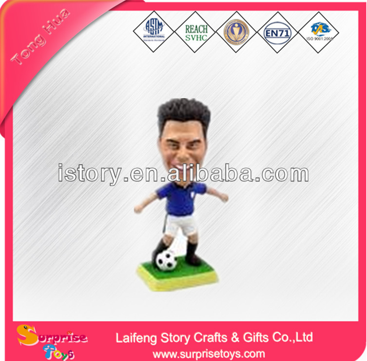Customized plastic mini soccer player