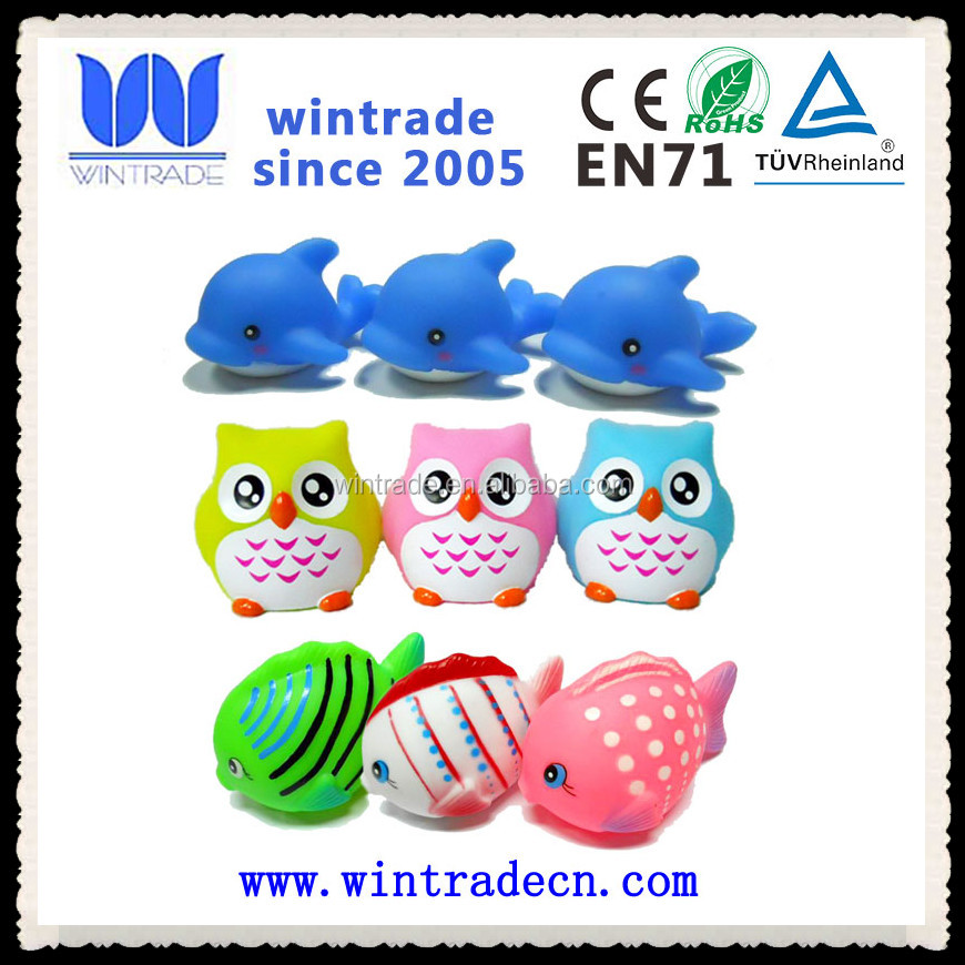 wholesale whale/owl/fish floating animal waterproof cute bath toy