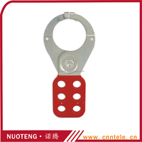 6 hole red stainless steel hasp lock,security lock,hasp and staple lock
