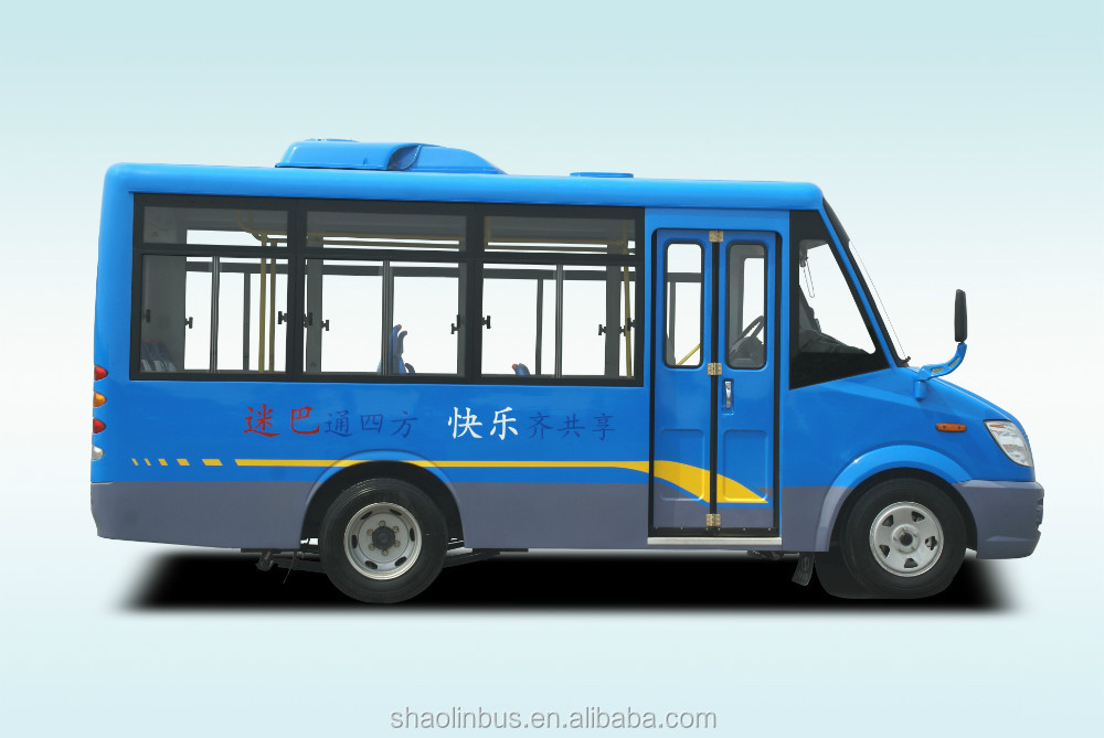 Shaolin new design low price long nose safe 19 passenger seats Minibus
