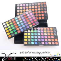 SP180 high quality new eye cosmetics 180 colors eyeshadow palette with three layer design