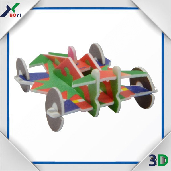 Educational plastic car 3D mini puzzle