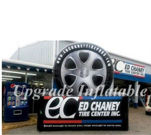 custom giant black and white advertising inflatable tire,inflatable tyre for sale