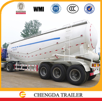 High quality V shape 3 axle 45m3 bulk cement transportation vehicle