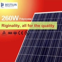 A Grade 260W Polycrystalline Solar Panels High quality 260W poly solar panels stock