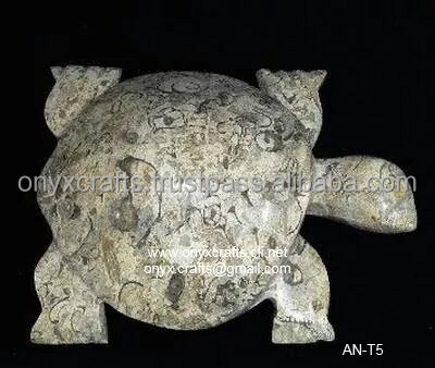 Coral Marble Turtle Figurines