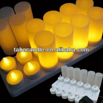 rechargeable flameless candles walmart
