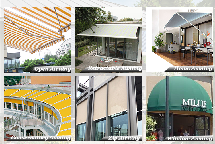 Retractable Full Cassette Motorized Awning Used Aluminum Awnings For Sale