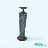 Retro Dark silver taper candle holder
